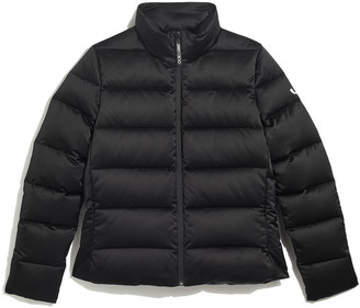 Jimmy Choo JC-PUFFER Black Shell Quilted Down Puffer Jacket with JC Logo