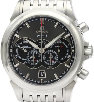 Omega Grey Stainless Steel De Ville Chronograph 422.10.41.52.06.001 Men's Wristwatch 41MM