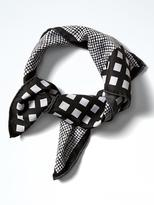 Banana Republic Blocked Gingham Small Square Scarf