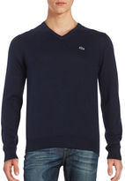 Lacoste Cotton V Neck Sweater