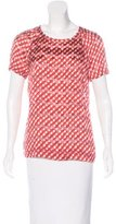 Tory Burch Sheer Polka Dot Top