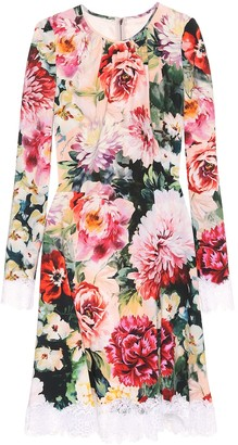 Dolce & Gabbana Floral crepe dress
