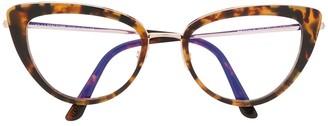 Tom Ford TF5580-B tortoiseshell-effect cat-eye glasses
