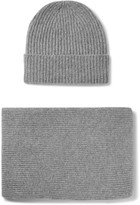 William Lockie - Ribbed Cashmere Hat And Scarf Set
