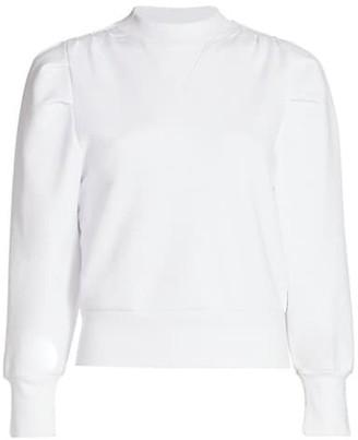 Frame Shirred Crewneck Sweatshirt