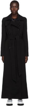 Ann Demeulemeester Black Long Gabardine Coat