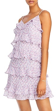 Aqua Floral Ruffled Dress - 100% Exclusive