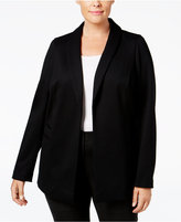 Alfani Plus Size Open-Front Blazer, Only at Macy's