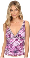 Tommy Bahama Tiles of Tropics V-Neck Tankini Top