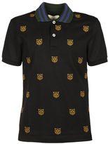Gucci Tiger Head Print Polo Shirt