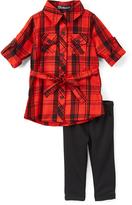 Dollhouse Black & Red Plaid Tunic & Leggings - Infant Toddler & Girls