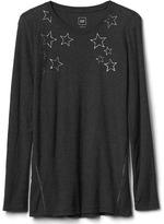 Gap Foil star print long sleeve tee