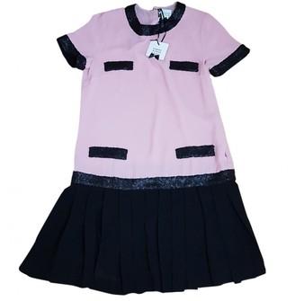 Edward Achour Pink Silk Dress for Women