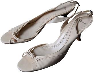 Joseph Ecru Leather Sandals