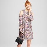 Xhilaration Women's Cold-Shoulder Dress Juniors') Petal Pink