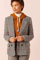 Forever 21 Tweed Houndstooth Blazer