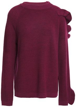 Paper London Montana Ruffled Wool-blend Sweater
