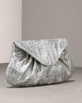 Lauren Merkin Char Croc-Embossed Clutch