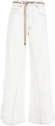 Ganni Belted High-rise Wide-leg Pants