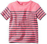 Carter's Striped Neon Pocket Tee