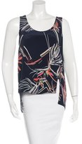 Maiyet Floral Print Silk Top w/ Tags