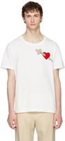 Gucci White Pierced Heart T-Shirt