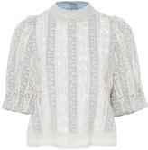 Sea Column Crochet Short Sleeve Top