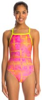 Speedo Acid Squares Printed Propel Back One Piece Swimsuit 8138488