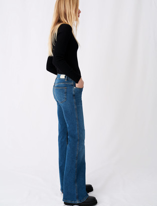 Maje Flared jeans with horsebit detail