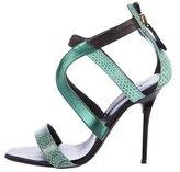 Diego Dolcini Snakeskin Multistrap Sandals