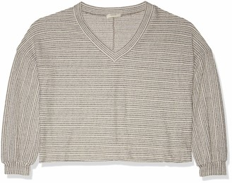 Forever 21 Women's Plus Size Striped V-Neck Sweater