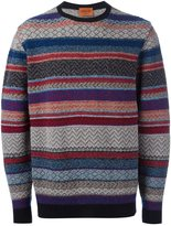 Missoni striped crew neck pullover