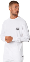 Barney Cools Healthy Ls Mens Tee White