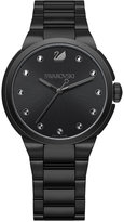 Swarovski Women's Swiss City Crystal Accent Black Stainless Steel Bracelet Watch 38mm