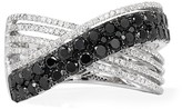 Effy Jewelry Effy Caviar 14K White Gold Black and White Diamond Ring, 1.66 TCW