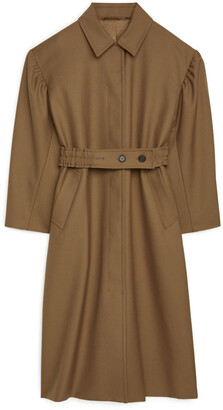 Arket Puff-Sleeve Wool Coat