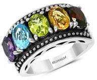 Effy Sterling Silver and Multi-Stone Ring