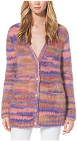 Michael Kors Space-Dyed Mohair Cardigan