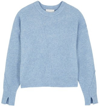 3.1 Phillip Lim Lofty blue panelled knitted jumper