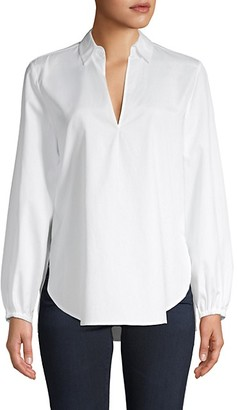 Vince Swing-Front Cotton Tunic Top