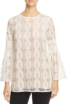 MICHAEL Michael Kors Bell-Sleeve Lace Tunic