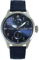 Peugeot Mens Blue Strap Aviator Watch 2044SBL