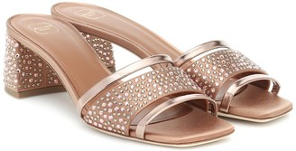 Malone Souliers Rosa embellished satin sandals