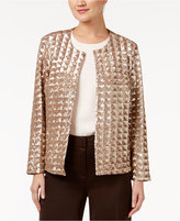 Alfani Petite Sequin Jacket, Only at Macy's
