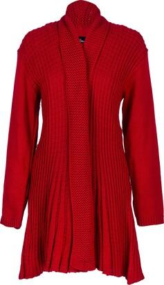 Missmister Long Cardigans for Women UK Plus Size Long Crochet Boyfriend Waterfall Cardigans Women Chunky Knit Ladies Cardigan (20-22 Plus