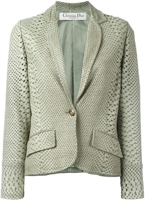 Christian Dior Pre-Owned Perforated Snakeskin Effect Jacket