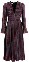 Jonathan Simkhai Rainbow Metallic Pleated Dress