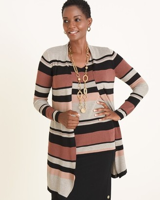 Chico's Multi-Colored Striped Cardigan