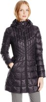 Bernardo Women's Packable Down Water Repellent Coat