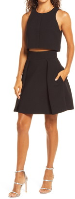 Black Halo Sanibel Two-Piece Minidress